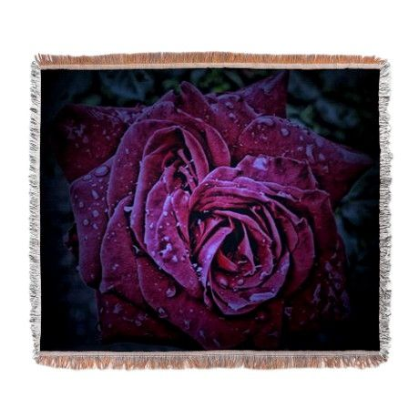 Purple Rose Woven Blanket by AngelEowyn. $69.99