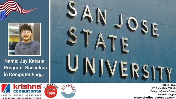 #Congratulations!!! Jay Katatria got admission to San Jose State University, #USA for the course of Bachelors in Computer Engineering.