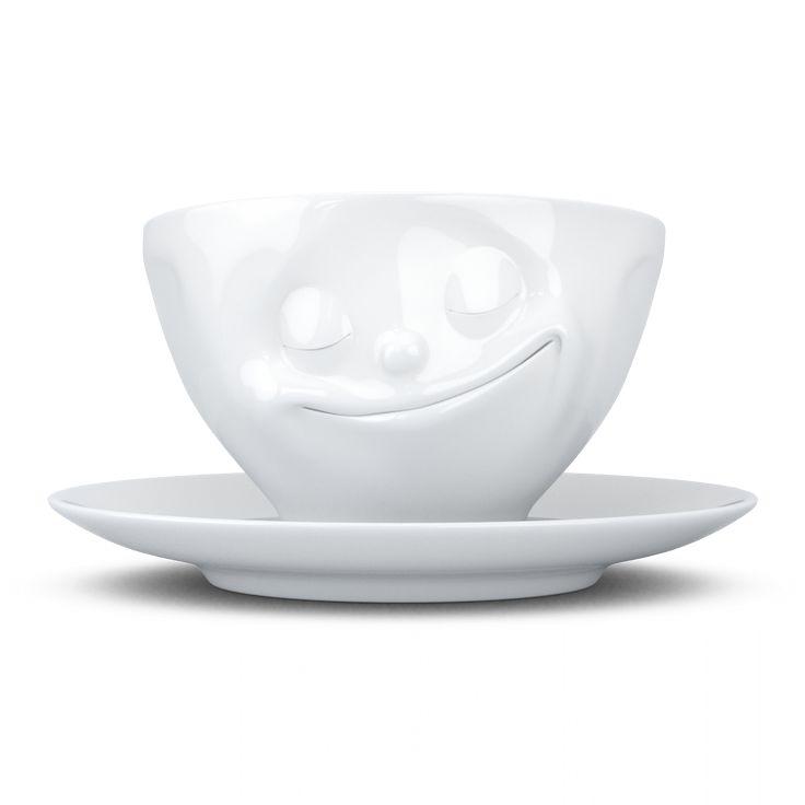 Unsere glückliche Tasse in Weiss.