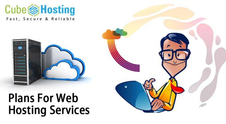 Hosting plans for web hosting services by Cube Hosting.