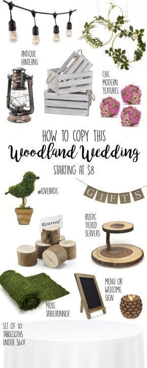 Wedding Ideas, Woodland Wedding, Rustic Wedding, Decor, decorations, DIY, Ideas, Reception, Centerpieces, On a Budget, , Outdoor, Barn, whimsical, planning, fall, winter, theme, ceremony, woodsy, boho, chic, classy, wooden, outdoorsy, elegant, tablecloths, Small, vintage, inexpensive, Shabby Chic, banner, lanterns, crates, signs, country, chalkboard, textures, greenery, garland, topiaries, intimate, bulk, table settings, ideas, #weddingideas #rusticwedding #woodlandwedding