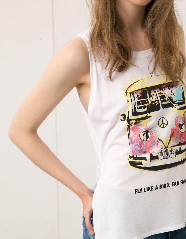 Camiseta Bershka estampado autocaravana - Camisetas - Bershka Mexico