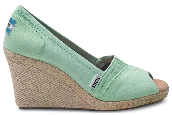 adorable! Toms shoes, Mint green!