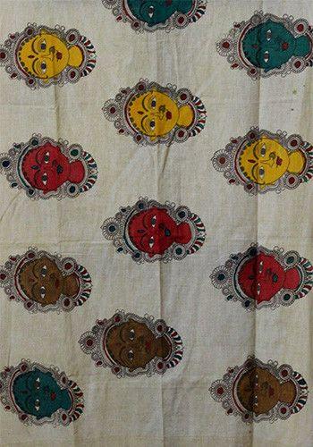 Kalamkari Dupatta - Hand-dyed malalgiri cotton with natural pigments