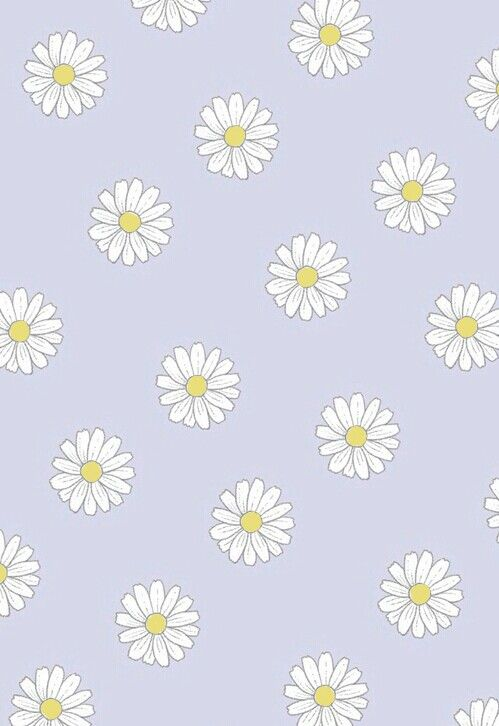 Pin By Loanna Halim On Wallpaper Pattenrs Texturas Flowers Colors Iphone Background Wallpaper Daisy Wallpaper Cute Patterns Wallpaper