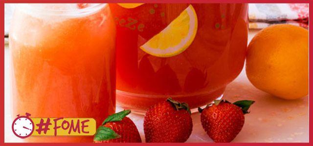 Limonada de Morangos e Mel - #fomedebebidas - Minuto da Fome