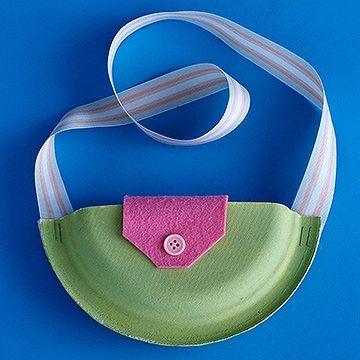 Fun idea - make a paper plate purse