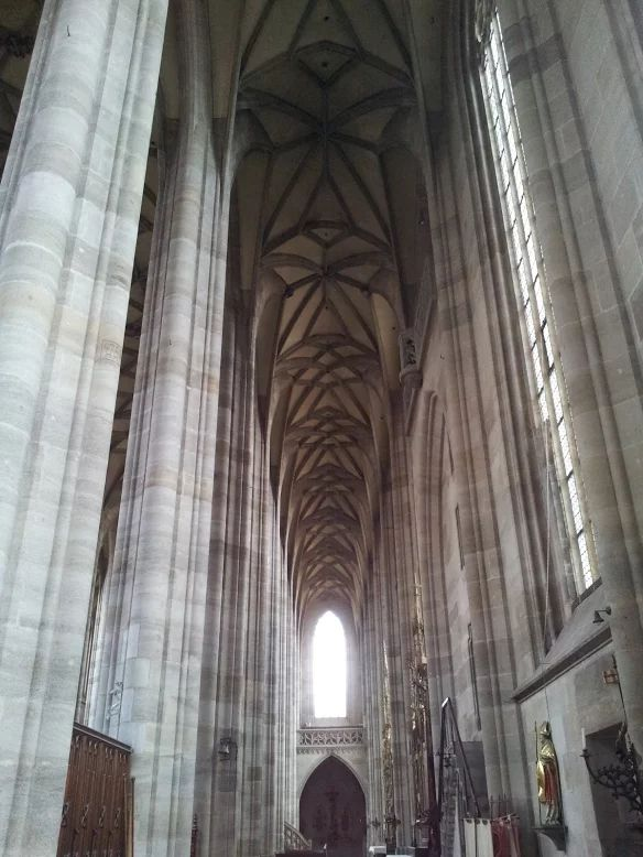 Inside the Münster of Dinkelsbühl, Middle Franconia