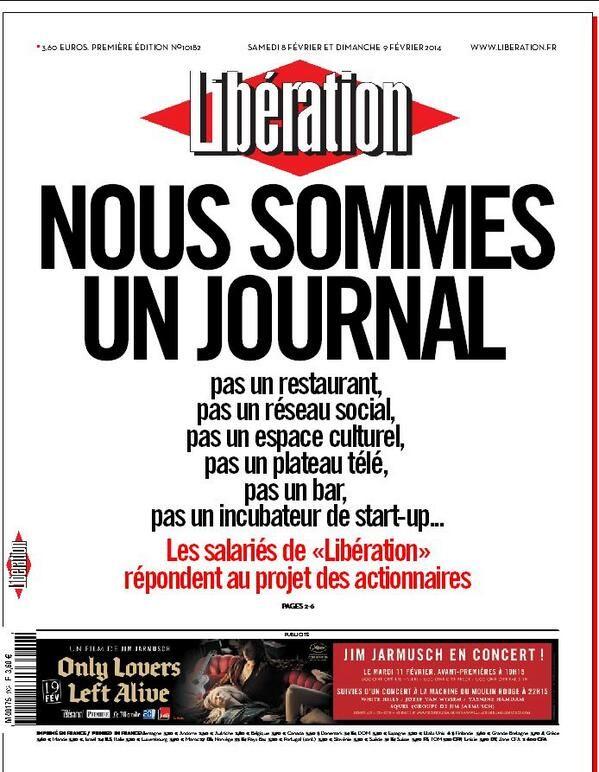 Une de Libération du 8 février