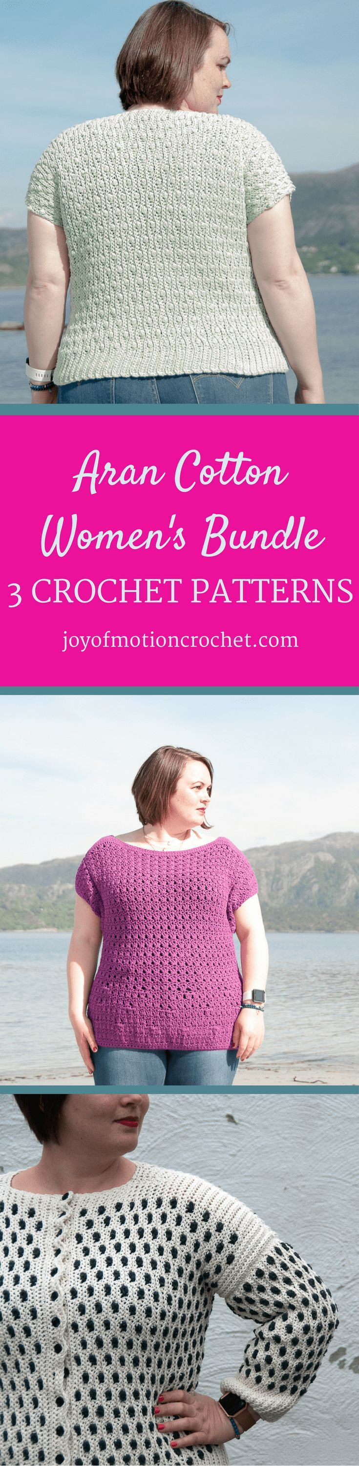 Want to make a few women's crochet projects? These are just perfect for that. Learn more about the crochet patterns here: