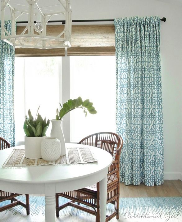 Drapes At Either Side Of French Sliding Doors