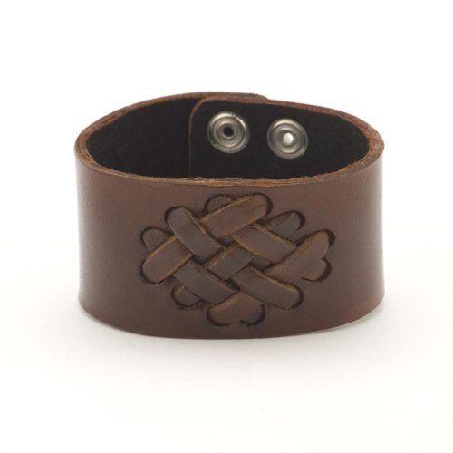 Brown celtic knot irish leather wristband bracelet by 81stgeneration 81stgeneration. $12.78. .