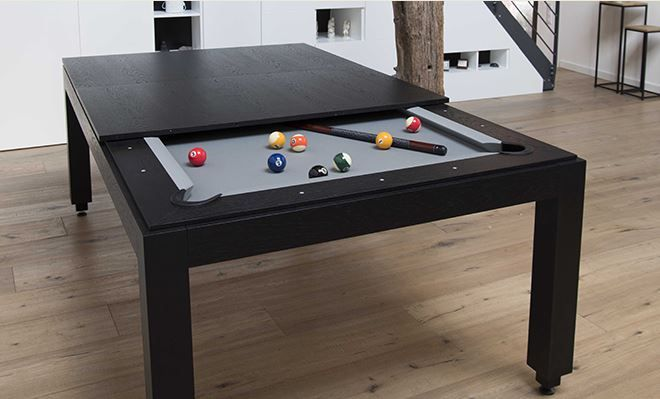 Fusion Wood Line Pool Table Monarch Billiards Pool Table Dining Table Pool Table Modern Pool Table