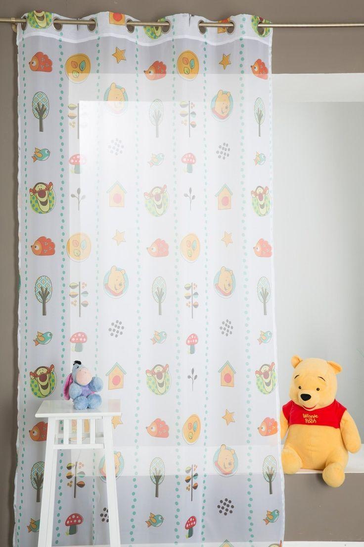 Marvelous Gardine f r das Kinderzimmer Winnie The Pooh X Gr n
