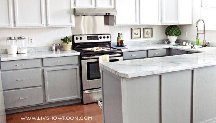 Nuvo Countertop Paint : ... For Under $100! The two, Countertops and Two tone kitchen cabinets