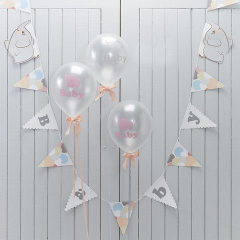 'Little One' Baby Shower/1st Birthday 'Baby' Bunting