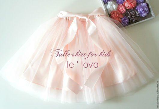 Одежда для девочек, ручной работы. Ярмарка Мастеров - ручная работа. Купить Готовая детская юбка-пачка из еврофатина цвет Светлая Пудра. Handmade.