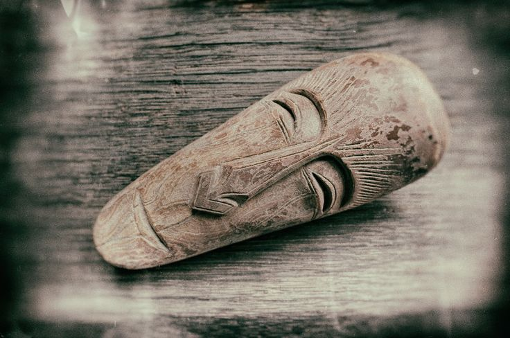 Inuit mask amulet carved from woolly mammoth ivory © 2016 Bali Charm