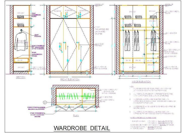 Wardrobe Plan Elevation Section : Best wooden wardrobe ideas on pinterest