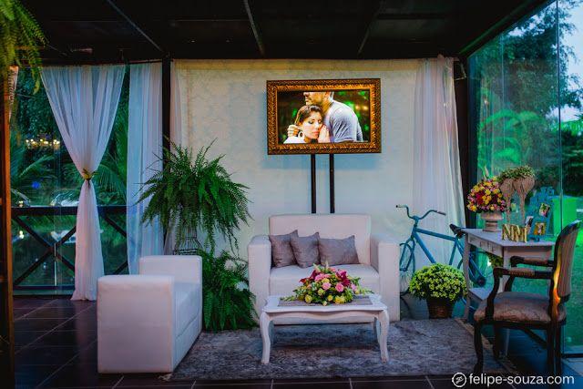 Decoração casamento Rústico Chic. Detalhes em azul.