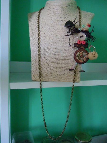 Mary Poppins collana.spilla di Foresta Mentale Chiaresca su DaWanda.com