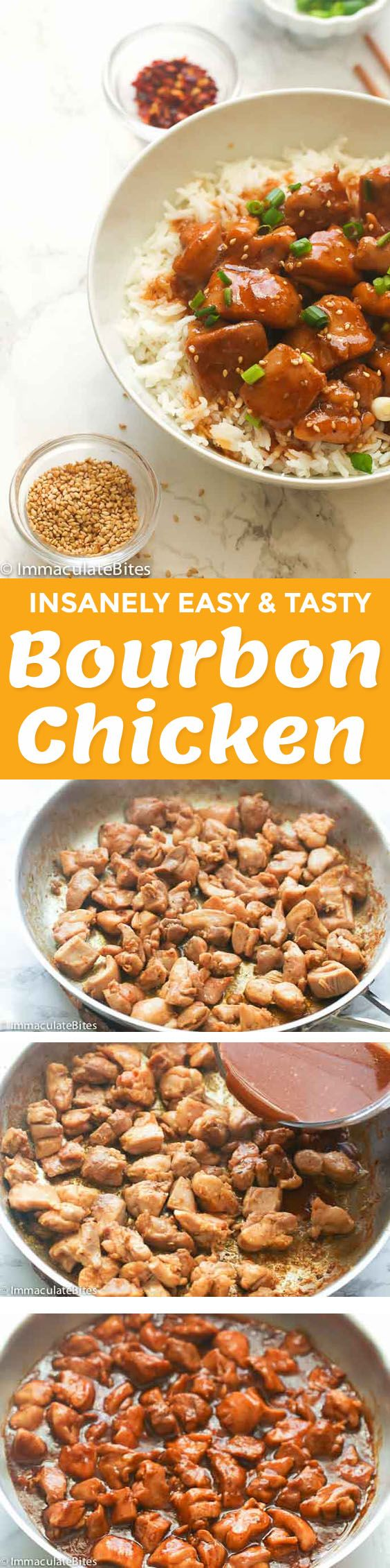 Bourbon Chicken – a quick and easy one skillet chicken dish that is smothered in a deep bourbon and soy sauce mixture. Deliciously sweet and savory homemade version of your favorite take-out meal ready in less than 30 minutes. Super easy and delicious! I was pretty surprised when I first learned that this …