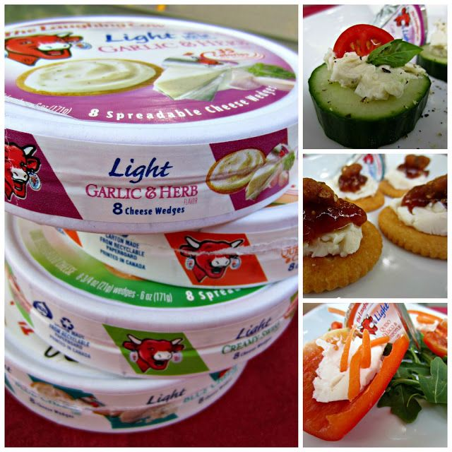 Summer snack ideas using The Laughing Cow cheese wedges
