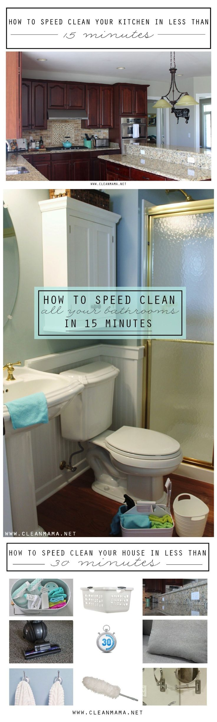 Check out these fantastic routines designed to help you clean SUPER fast!