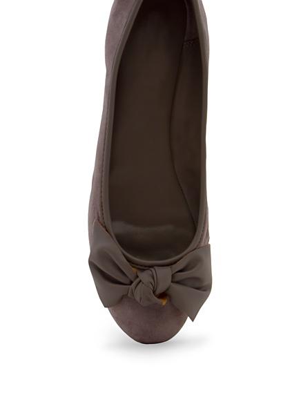 Mis #ballerinas #MANGO - Contrasted bow ballerinas