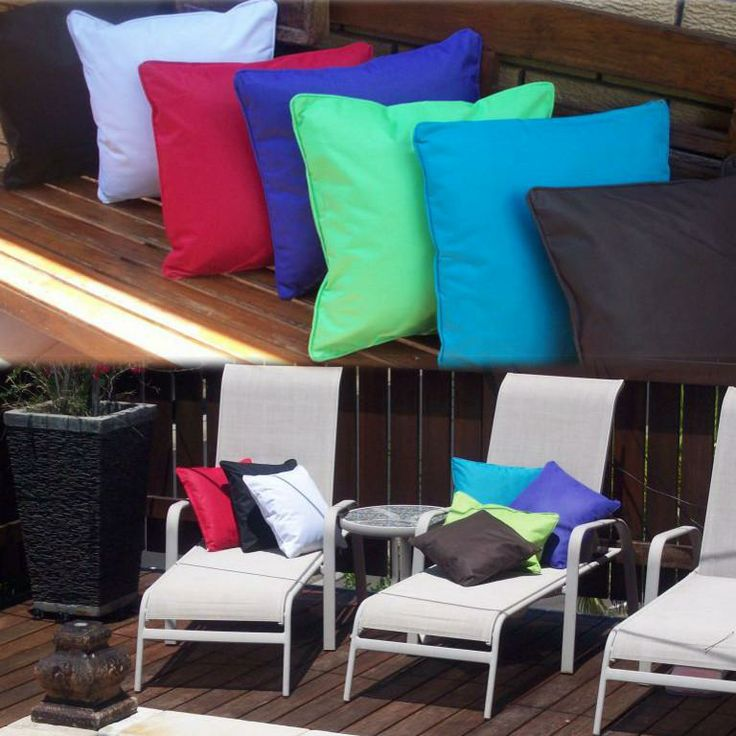 Recommended by Michelle Olsen. Weather proof cushions.
