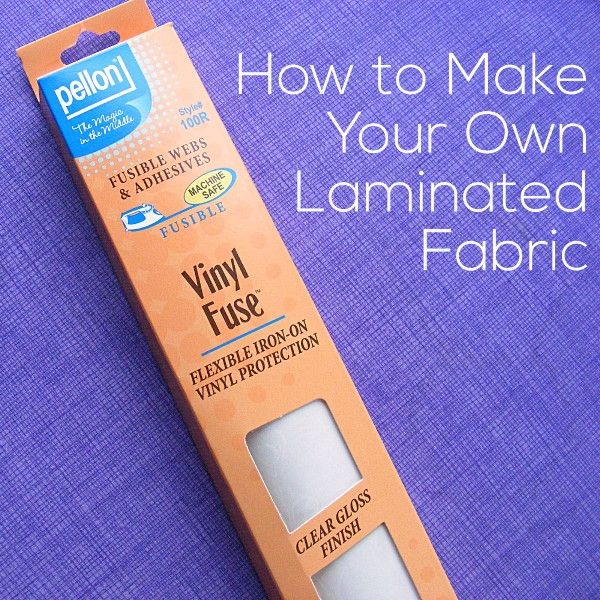 Turn any cotton fabric into a waterproof laminated fabric with Pellon Vinyl Fuse and an iron. It's super easy!