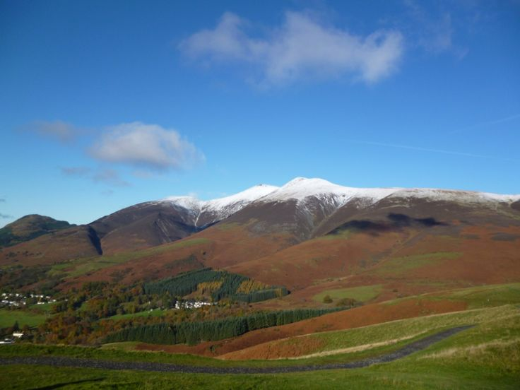 Skiddaw from Latrigg. First snow this winter on the fells.
