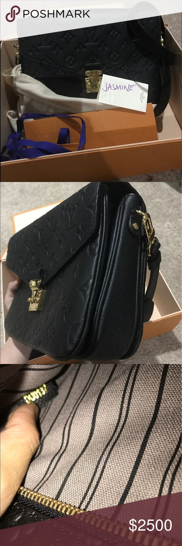Authentic pochette metis empreinte Brandnew condition pochette metis comes with box, dust bag. Can Trade to pochette metis monogram. Siena Pm pp cash. Neo noe. Speedy b 25 DE Louis Vuitton Bags Crossbody Bags