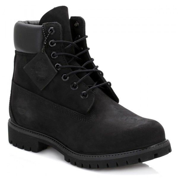 Mens Black Premium 6 Inch Nubuck Leather Boots ($165) ❤ liked on Polyvore featuring men's fashion, men's shoes, men's boots, men's work boots, shoes, men, timberland mens boots, mens water proof boots, mens black boots and mens waterproof boots