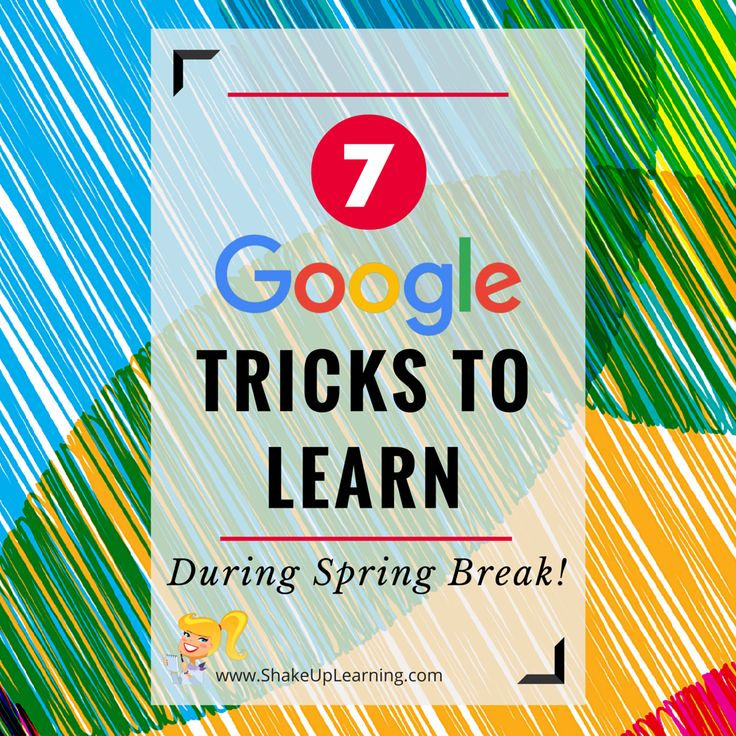 Pinterest 7 Google Tricks to Try During Spring Break! Who's ready for Spring Break? I know I am! Spring Break is a great time to relax, vacation, spend time with loved ones and recharge. It is also a great time to sharpen your saw! So I have put together this quick list of Google tricks …