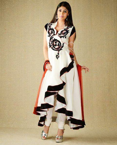 Latest Winter Frocks Indian Party Wear Dresses 2015-16 For Girls