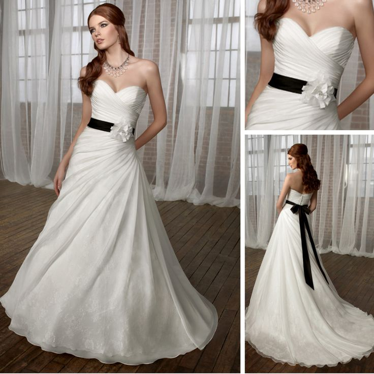 16 best black and white wedding dresses images on for Black and white dresses for wedding guests