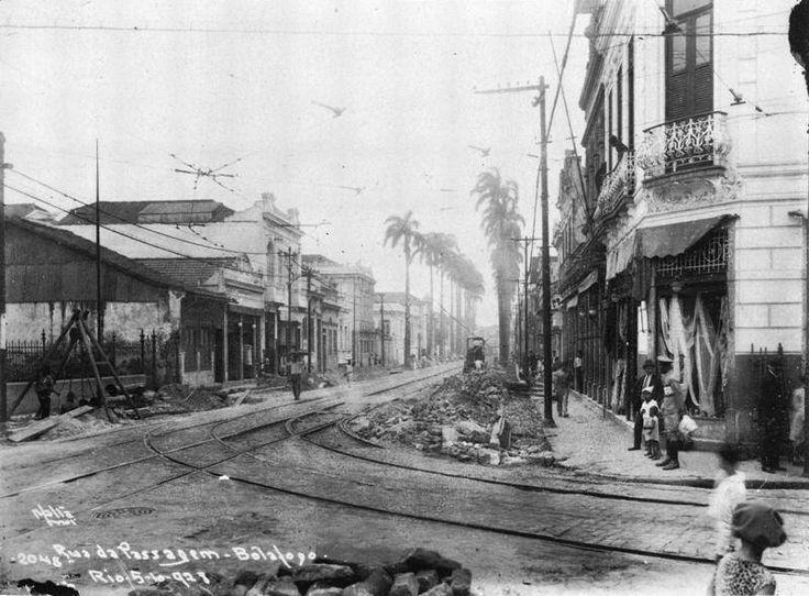 Rua da Passagem, em Botafogo RJ - 1921