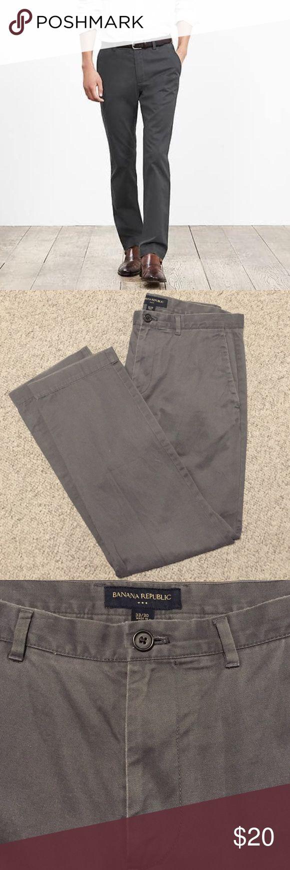Men's Banana Republic Grey Slim Straight Chinos 33x30 Excellent Used Condition. Banana Republic Pants Chinos & Khakis