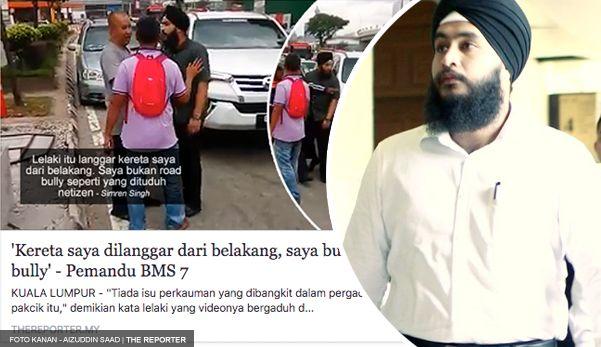 Pemandu BMS 7 mengaku tak bersalah dituduh lakukan khianat   Pemandu kereta nombor pendaftaran BMS 7 yang video pergaduhannya viral di media sosial Khamis lalu mengaku tidak bersalah di Mahkamah Majistret Kuala Lumpur hari ini atas pertuduhan melakukan khianat dengan melanggar kereta seorang seorang lelaki lapor Harian Metro.  S. Simran Singh 27 pelajar jurusan undang-undang membuat pengakuan itu selepas pertuduhan dibacakan di hadapan Majistret Ahmad Solihin Abd Wahid.  Baca artikel…