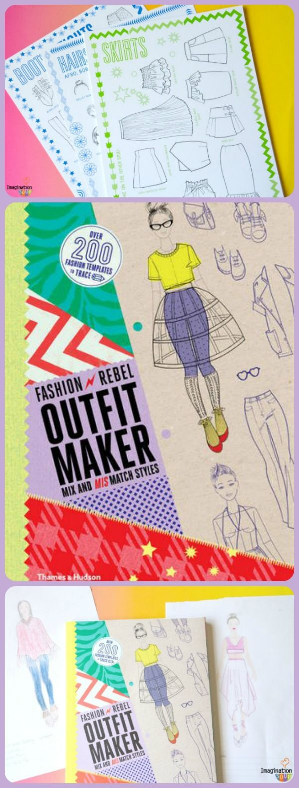 Gift Idea for Tweens and Teens Fashion Rebel Outfit Maker - my 13-year old daughter LOVES this book!