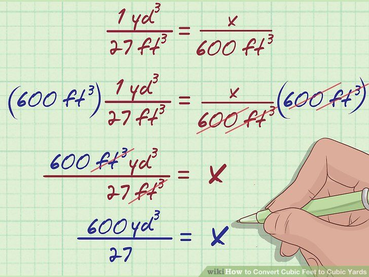 How To Convert Cubic Feet To Cubic Yards Cubic Foot Converter Math Tricks