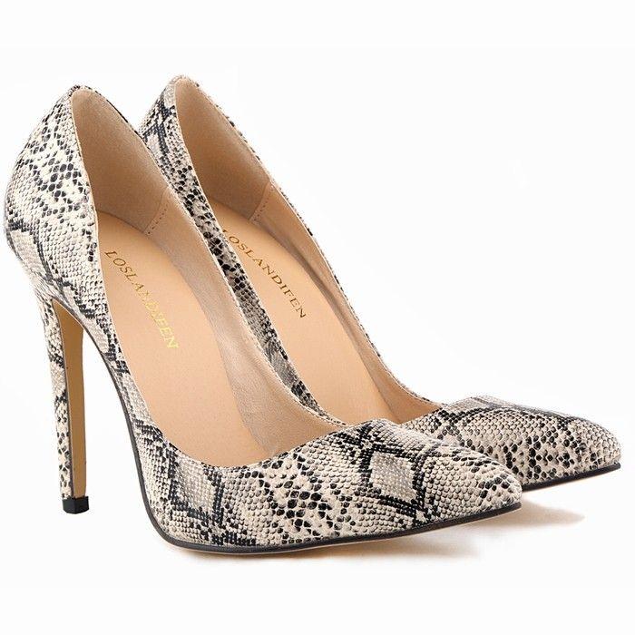 Szpilki Klasyczne Cudo Skora Weza Aligatora 34 41 Snake Print Shoes Super High Heels Heels