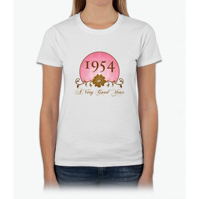 1954 Birthday For Her Womens T-Shirt