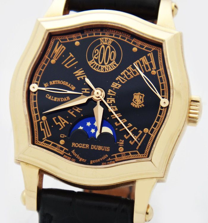 Roger Dubuis Sympathie 2000 Millenary Bi-Retrograde Moon 18K Gold Watch