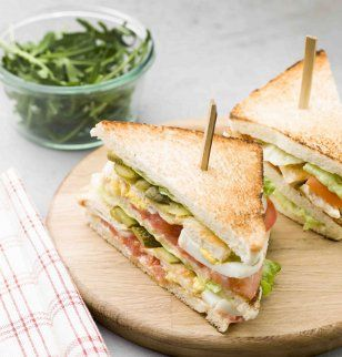 Club sandwich royal au poulet / Chicken sandwich