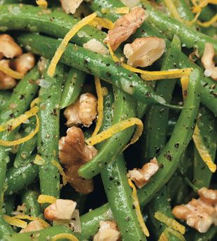 Green Beans and Walnuts with Lemon VinaigretteGreen Beans Casseroles, Side Dishes, Thanksgiving Side, Yummy Food, Enjoy Your Meal, Walnut, Green Beans Recipe, Lemon Vinaigrette, Mr. Beans