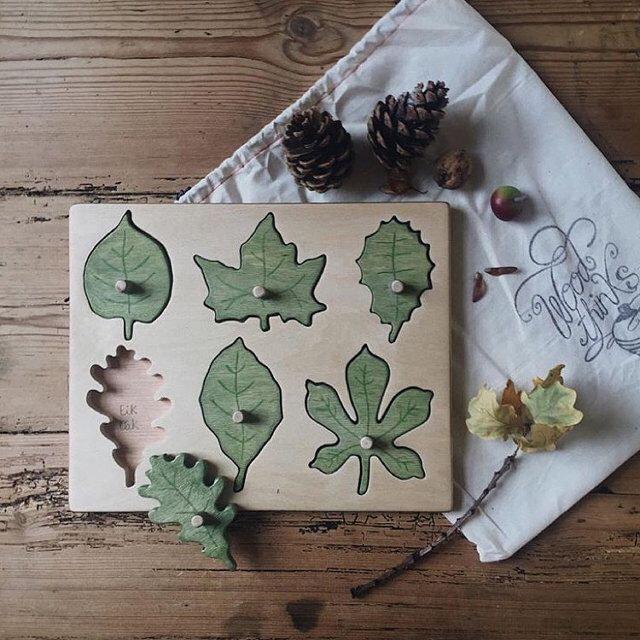 Wooden Toys / Wooden leaf puzzle / Waldorf Toys / Montessori Toys / Educational Toys / Learning Toys / Eco Friendly Toy / Toddlers Toy Phade Savejs