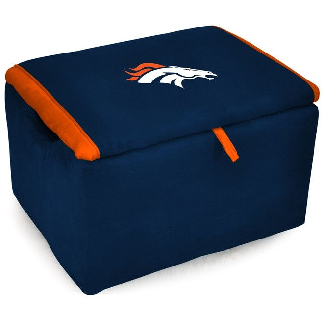 This Denver Broncos Storage Bench by Imperial USA will make a great addition to any Fan Cave, Rec Room, den or bedroom and make a wonderful toy storage for the kids bedroom and allow them to show ther