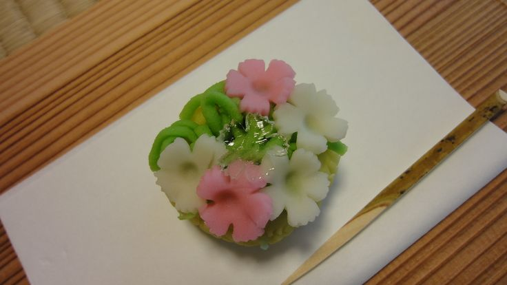 Traditional Japanese Sweets for the Japanese Tea Ceremony, which made by Kikuya Tokyo.